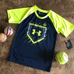 New glow in dark Under Armour Baseball t shirt